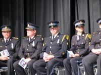 Police officers at the grand opening ceremony