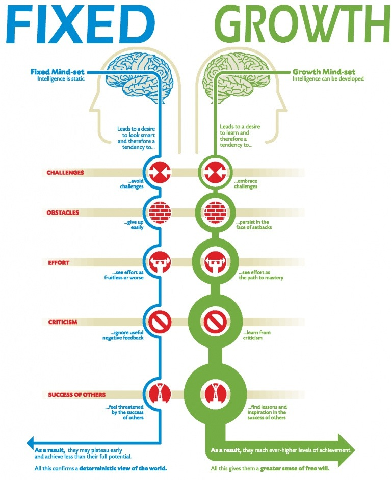A comparison of Fixed and Growth Mindset